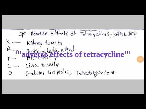 Adverse effects of tetracycline