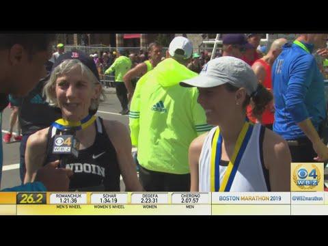 Joan Benoit Samuelson And Daughter Abby Finish Boston Marathon