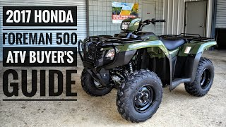 3. 2017 Honda FourTrax Foreman 500 ATV Model Lineup Explained / Differences / Model ID Breakdown