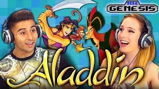 ALADDIN (SEGA GENESIS) (Teens React: Retro Gaming) - YouTube