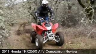 9. MotoUSA 2011 Honda TRX250X ATV Comparison Review