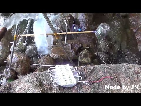 Guy Builds Homemade HydroElectric Generator To Power Smart