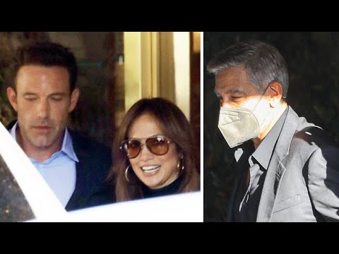 Ben Affleck And Jennifer Lopez Showing Love at George Clooney's 'The Tender Bar' Premiere