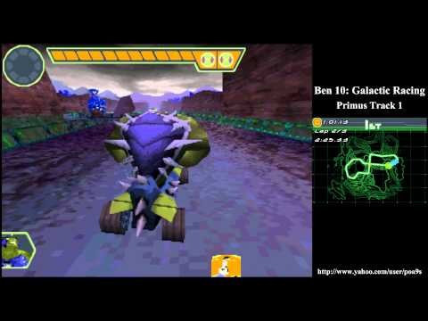 Ben 10 Glactic Racing Primus Track 1 Walkthrough Part 1 (2011 DS NDS) 1080p HD HQ Gameplay