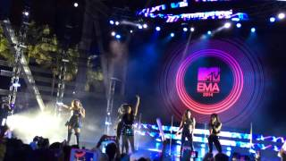 Fifth Harmony performing Miss Movin' On at EMAs preshow