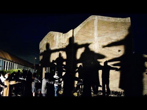 「神戸の壁」ライトアップ 淡路