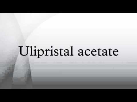 Ulipristal acetate