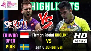 Video SERU !! Firman Abdul Kholik Vs Jan O Jorgensen • FULL HIGHLIGHTS • Taiwan Open 2018 • 4 Oktober 2018 MP3, 3GP, MP4, WEBM, AVI, FLV November 2018