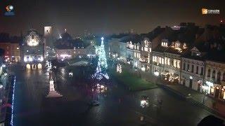 Świąteczne Miasteczko oraz choinka na rynku w Rzeszowie - timelpase