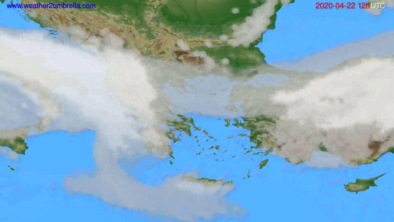 Cloud forecast Greece // modelrun: 00h UTC 2020-04-22