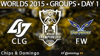 Counter Logic Gaming vs Flash Wolves - World Championship 2015 - Phase de groupes - 01/10/15