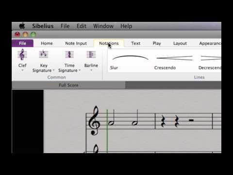 Recorido guiado por Sibelius® 7