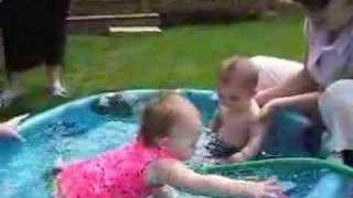Sam And Ella In The Pool