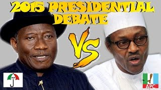 Nigeria Presidential Election Debate 2015 : Buhari Finally Shows Up Late To Tackle Jonathan