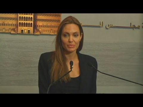 Angelina Jolie speaks of her hope for Syrian refugees during