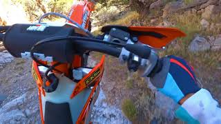 3. Going Up Satan's Crack on a KTM 250 XC