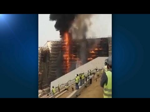 Brand auf der Baustelle des Großen Ägyptischen Museum ...