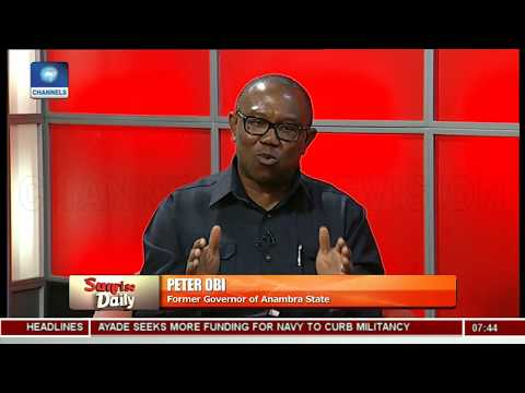 Peter Obi Laments Nigeria's High Debt Profile - Peter Obi Pt 2 | Sunrise Daily |