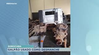 Policia localiza desmanche de caminhões em Sorocaba