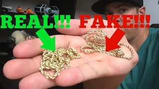 How to spot FAKE GOLD