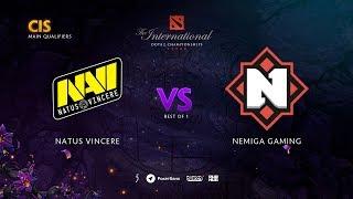 Natus Vincere vs Nemiga Gaming, TI9 Qualifiers CIS, bo1 [Lex & 4ce]