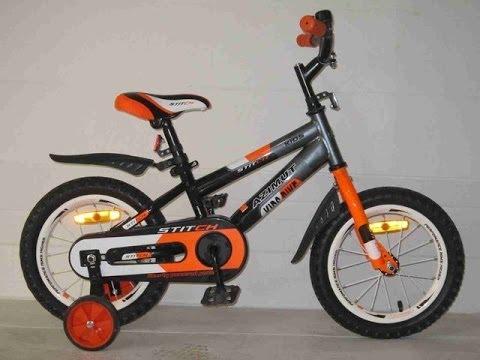 """Велосипед Azimut 12"""" Stitch Черно-серо-оранжевый"""