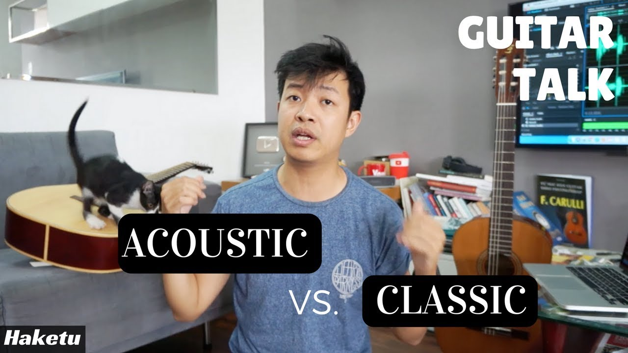 So sánh đàn guitar cổ điển (classic) và acoustic