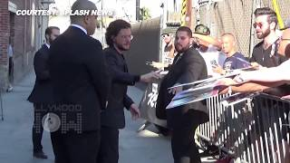 Kit Harington is seen greeting fans outside 'Jimmy Kimmel Live!' in Hollywood. Every GOT fan must hit play right now! Report By Korak Roy. Edited By Advait ...