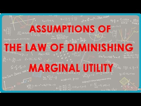 1148, Economics Class XII - Annahmen des Gesetzes vom abnehmenden Grenznutzen