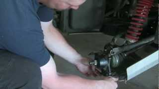 9. Removing the rear hub and replacing the bearings in the Yamaha Rhino!