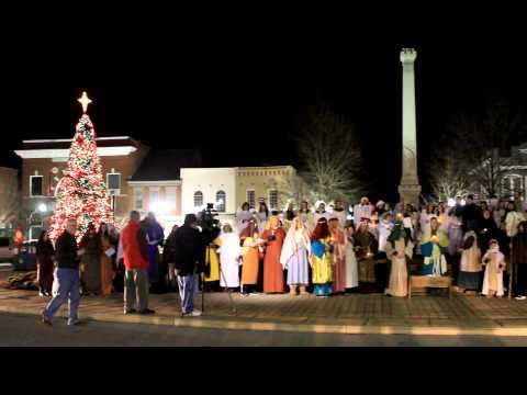 Nativity Flash Mob Downtown Franklin, TN  December 23, 2011