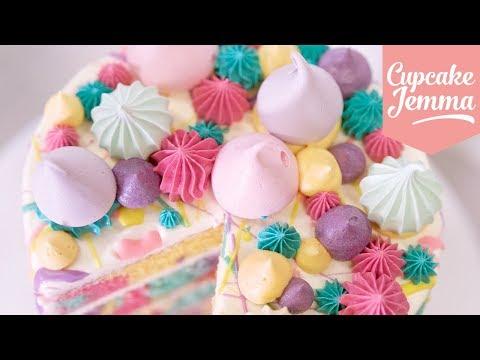 Rainbow Pastel Marble Splat Cake!   Cupcake Jemma