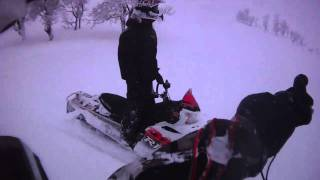 7. 2007 & 2008 Polaris RMK 600 HO 144 in Swedish powder. Contour HD helmet cam. vol 2