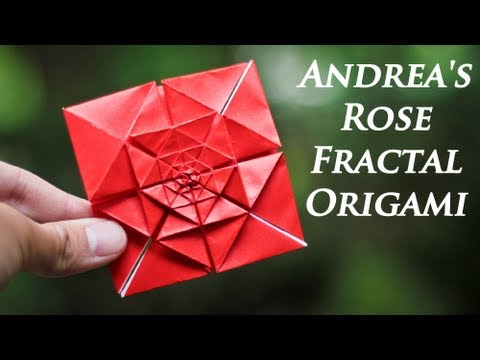Video Origami Fractal - Andrea's Rose Tutorial download in MP3, 3GP, MP4, WEBM, AVI, FLV January 2017