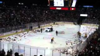 Cincinnati Cyclones Teddy Bear Toss 2011