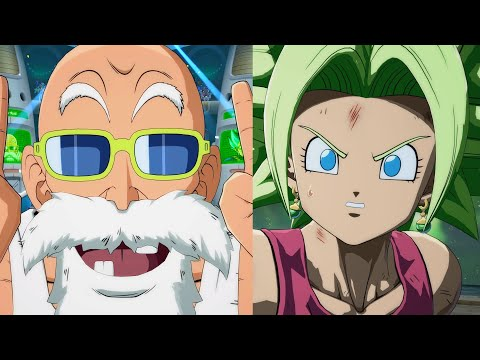 Dragon Ball FighterZ - Master Roshi All Unique Intros / Outros & Interactions (4k)