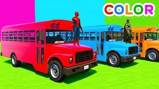 Learn Colors Big School Bus with Superheroes Cartoon For Kids:Learn Colors With Tractor Spiderman Car Cartoons For Kidshttps://youtu.be/RAvgag9v11ULEARN COLORS OldTimer Cars for Babies w/ Superheroeshttps://youtu.be/c6aZVVQwjSoLearn Colors Cars For Kids With Spiderman Cartoon For Babies Full Episodeshttps://youtu.be/BzfhMKdrYD0LEARN COLORS w Police Cars on Bus & Spiderman Cartoon for kidshttps://youtu.be/A-C1itC_t2EFun Learn Colors Nursery Rhymes Helicopter Carshttps://youtu.be/RHIQN3V0c2c