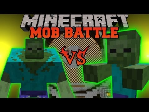 MUTANT ZOMBIE VS. GIANT ZOMBIE - Minecraft Mob Battles - Arena Battle - Mutant Creatures Mod