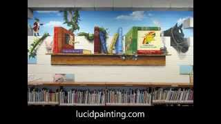 Bookshelf Mural Time Lapse 2015