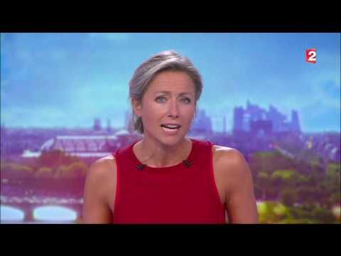 Les premiers instants de Anne-Sophie Lapix au 20h de France 2