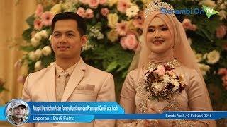 Malam Resepsi Pernikahan Aktor Tommy Kurniawan dan Pramugari Cantik asal Aceh