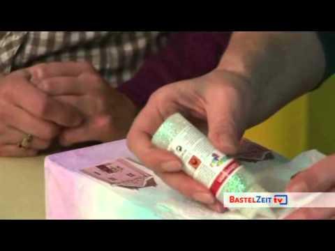 Bastelzeit TV 25 - Luminaria Lichttüte mit Aquarellfarben und 3D-Objekten