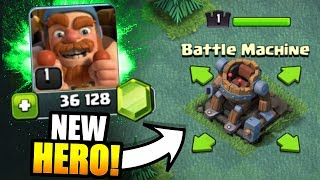 "Video NEW HERO ""BATTLE MACHINE"" UNLOCKED IN CLASH OF CLANS!! - EPIC GEM SPREE CONTINUES! MP3, 3GP, MP4, WEBM, AVI, FLV Mei 2017"