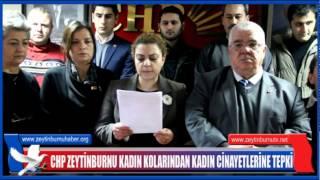 CHP ZEYTİNBURNU KADIN KOLARINDAN KADIN CİNAYETLERİNE TEPKİ