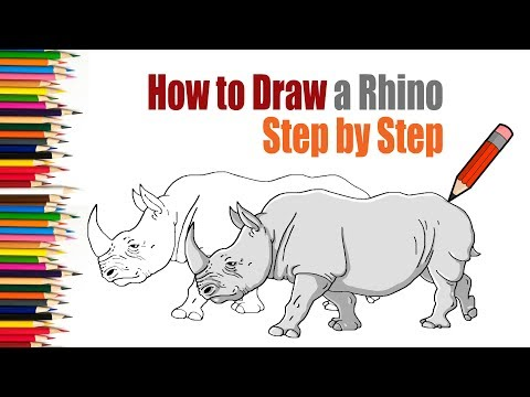 (How to Draw a Rhino easy Step by Step for Kids tutorial. - Duration: 3 minutes, 56 seconds.)