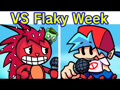 Friday Night Funkin' - VS Flaky FULL WEEK (FNF Mod/Hard) (Happy Tree Friends & Flippy)