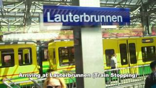 Wengen Switzerland  City pictures : Lauterbrunnen & Wengen, Switzerland (Train Journey)