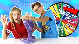 Video Mystery Wheel of DUMP IT Slime Challenge!!! MP3, 3GP, MP4, WEBM, AVI, FLV Juni 2019