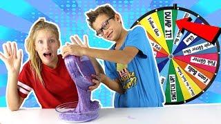 Mystery Wheel of DUMP IT Slime Challenge!!!