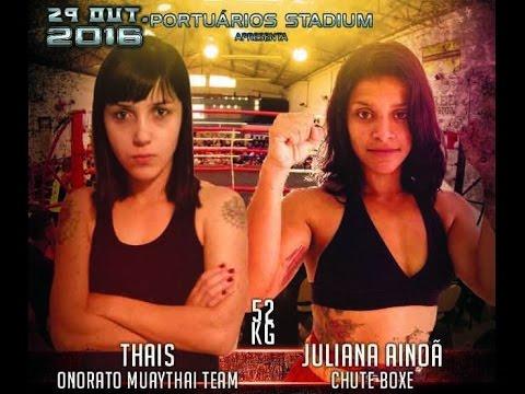SUPER GIRLS -  Thaís Onorato (OMTT) X Juliana Ainoã (Chute Boxe) - 52KG (видео)